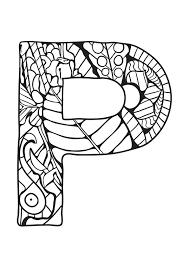 Alphabet lettre p  Coloriages alphabet et lettres