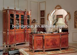 luxury office desk set elegant design hand carved wooden office