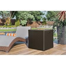Suncast Patio Storage Bench Suncast Deck Box Cube Wicker Look Resin 60 Gal Model Bmdb60