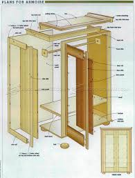 rustic armoire plans u2022 woodarchivist
