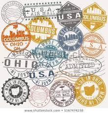 Ohio Travel For Free images Columbus ohio stamp vector art postal stock vector royalty free jpg