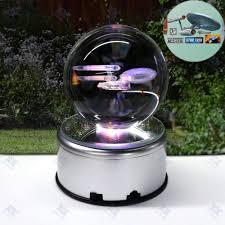 Light Table Desk Star Trek Uss Enterprise 3d Crystal Ball Led Night Light Table