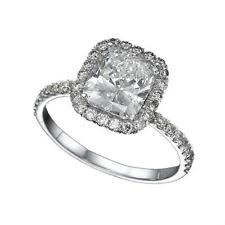 vvs2 cushion white gold solitaire with accents diamond engagement