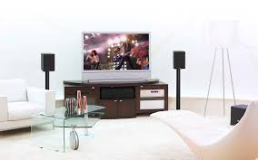 enchanting look of small home theater design offers wonderful
