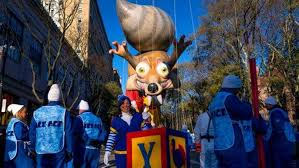 macy s parade rolls on with balloons bands security kfox