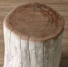 Tree Stump Side Table Acacia Trunk Side Table