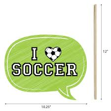 amazon com goaaal soccer photo booth props kit 20 count