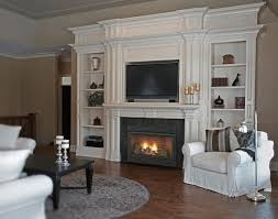 vent free fireplace with bookcases