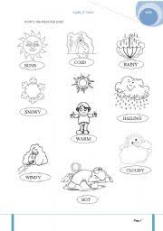 the weather worksheet by bella26