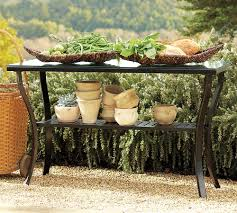 interior outdoor console table for inviting table and storage