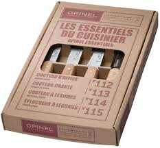 opinel essentials small kitchen knives set 4 placewares