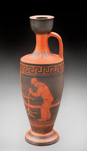 Black And Red Vase Lori Rollason Ceramics 2015 Earthenware What Would Heracles Do