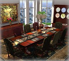 second life marketplace dinner party dining set for 8 jacobean