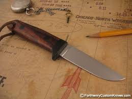 Unique Kitchen Knives Hiroaki Ohta Deep Woods Belt Knife Fort Henry Custom