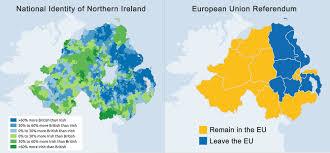 Northern Ireland Map Eu Referendum And National Identity Of Northern Ireland 2000x927