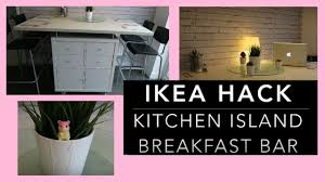 Kitchen Breakfast Island by Ikea Hack Diy Kitchen Island Breakfast Bar U0026 What It Stores