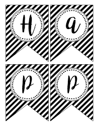 happy new year banner printable paper trail design