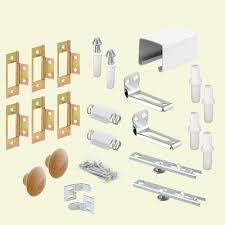 Closet Door Track Prime Line 60 In Bi Fold Closet Door Track Kit 164688 The Home