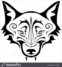 wildlife animals black wolf tattoo stock illustration i3217850