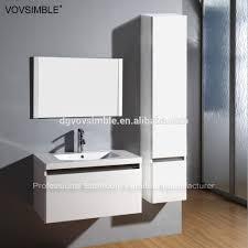 wall mounted mdf matte black painting bathroom vanity set for