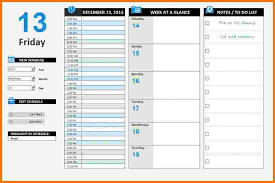 daily schedule template word 9 free sample example