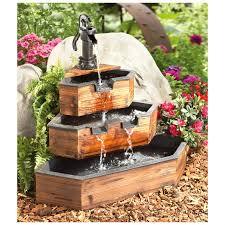 decorative water fountains for home 3 tier corner fountain outdoor patio garden pinterest