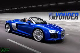 Audi R8 Blue - audi r8 spyder wild blue yonder 9tro
