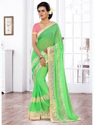light green color green color designer indian latest casual daily use simple sarees