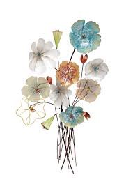 Home Wall Decor And Accents by Marvelous Ideas Metal Flower Wall Decor Fancy Plush Design Metal