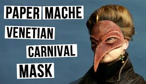 venetian bird mask diy masquerade venetian mask plague doctor from paper mache