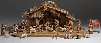 wooden nativity set wood carved nativity from pema in northern italy sold at