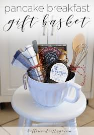 what gift to give at a bridal shower bridal shower gift idea pancake breakfast gift basket