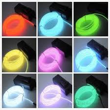 flexible el wire neon light 1m 2m 3m 5m for dance party car decor
