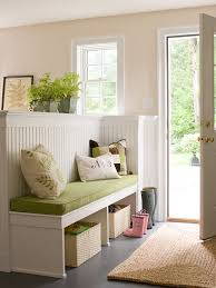strategic use of space build a half wall with a built in bench to