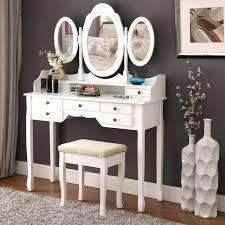 Vanity Table And Stool Set Aliexpress Com Buy Langria Makeup Dressing Table Vanity And