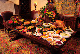table full of food 6 tips for surviving holiday dinners koski s food fight