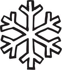 clipart simple snowflakes scene outline