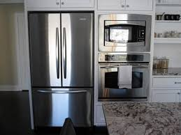 Double Wall Oven Cabinet Refrigerator On One Wall Google Search Kitchen Ideas