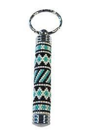 native american beaded key chain pill fob jewelry pinterest