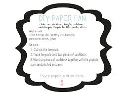 diy wedding fans templates adelynstone diy paper fan with printable for those hot