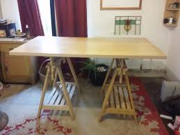 Ikea Adjustable Height Desk by Beech Ikea Finnvard Adjustable Height Trestle Table Art Crafts