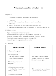 Example Of A Memoir Essay A Detailed Lesson Plan In English Iii Final Demo Lesson Plan