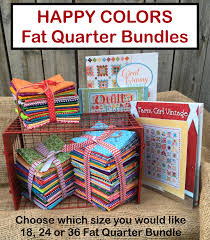 happy colors quarter bundles stitches quilting