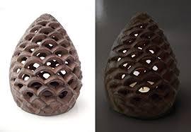pine cone tea light holder yankee candle cast iron pinecone tealight holder amazon co uk