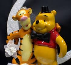 winnie the pooh cake topper tigger winnie the pooh groom your my honey wedding cake