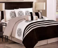 Queen Comforter Sets Amazon Com 7 Pieces Embroidery Medallion Comforter Set Bed In A