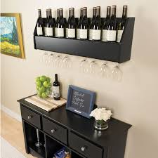 floating wine rack espresso other bar accessories best buy