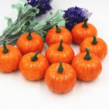 Small Pumpkins Aliexpress Com Buy 16 Pcs Set Halloween Pumpkin Artificial Fall