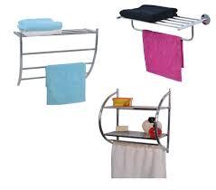 3 Shelf Wire Rack Wall Mounted Bath Wire Metal Shelf 3 Towels Racks Chrome