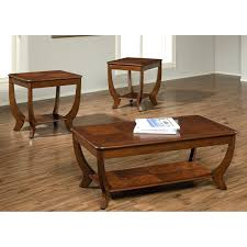 set of three end tables coffee table hammary oasis 2 piece oval coffee table set hayneedle